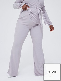 in-the-style-curve-in-the-style-curve-x-jac-jossanbspribbed-fit-and-flare-trousers-grey