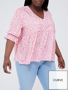 in-the-style-curve-in-the-style-curvenbspx-jac-jossanbspfloral-print-smock-top-with-puff-sleeves-pink