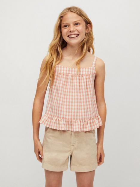 mango-girls-check-cropped-shirt-orange