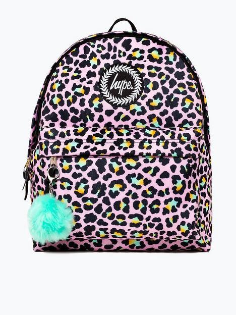 hype-girls-disco-leopard-backpack-multi