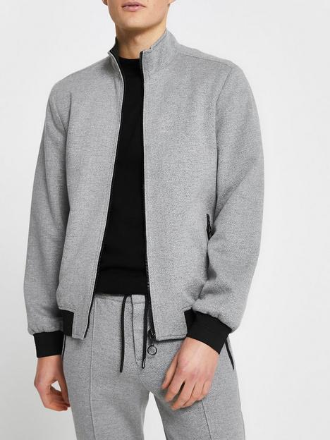 river-island-high-neck-zip-bomber-jacket-grey