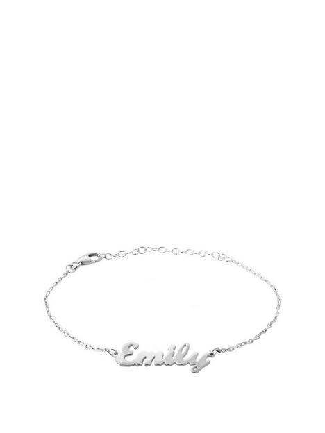 the-love-silver-collection-the-love-silver-collection-sterling-silver-personalised-adjustable-name-bracelet