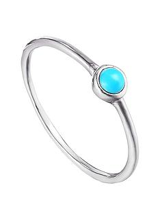 the-love-silver-collection-the-love-silver-collection-sterling-silver-turquoise-bezel-ring