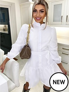 ax-paris-tiered-shirt-dress-white