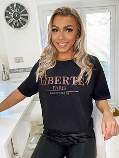 ax-paris-liberte-t-shirt-black