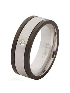 mens-steel-black-and-cubic-zirconia-ring
