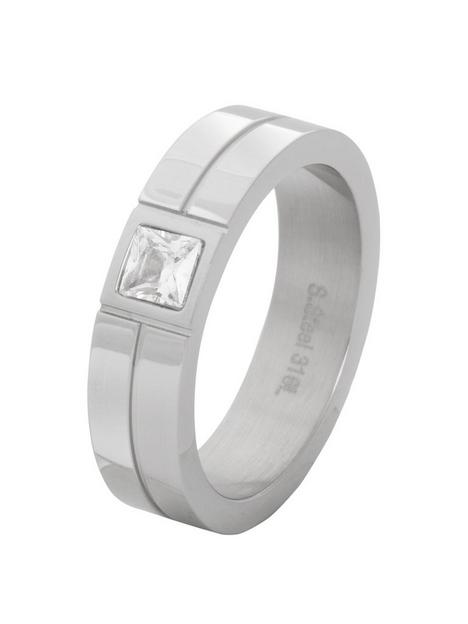 mens-steel-and-cubic-zirconia-ring