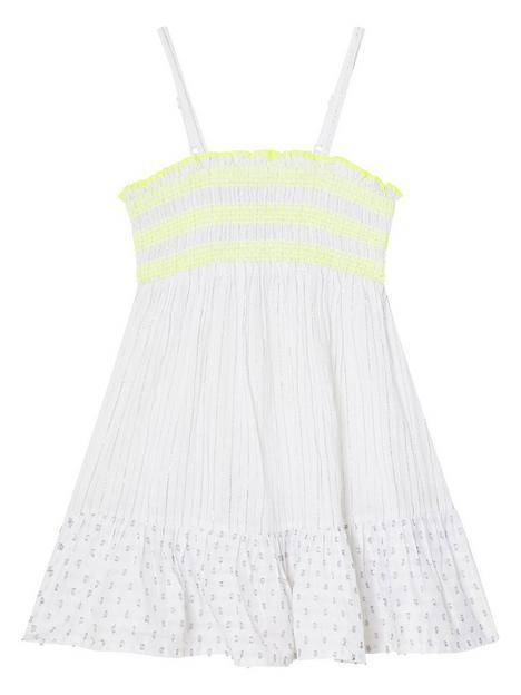 monsoon-girls-dobby-shirred-beach-dress-ivory