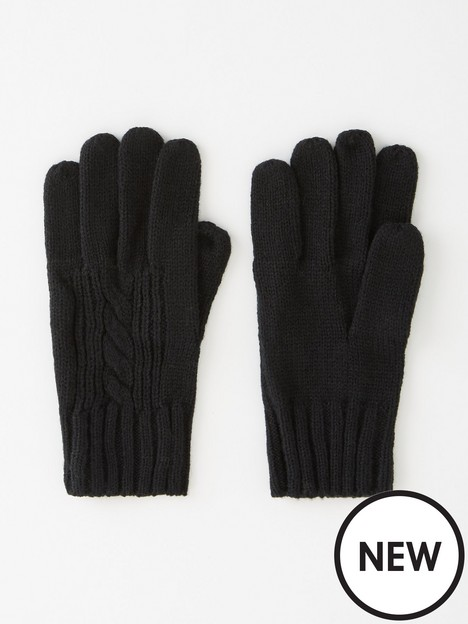 v-by-very-cable-knit-gloves-black