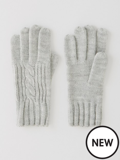 v-by-very-cable-knit-gloves-grey