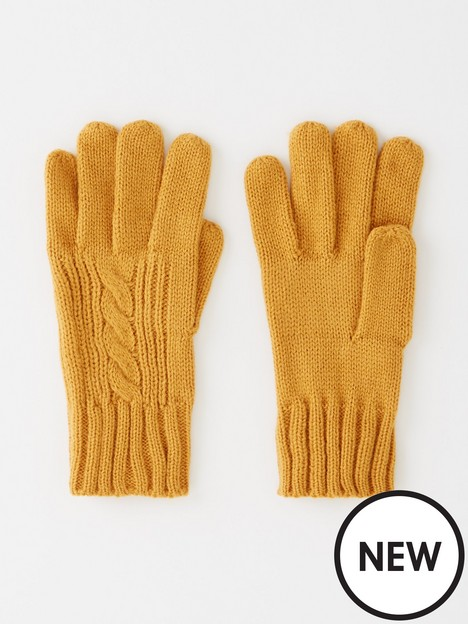v-by-very-cable-knit-gloves-mustard
