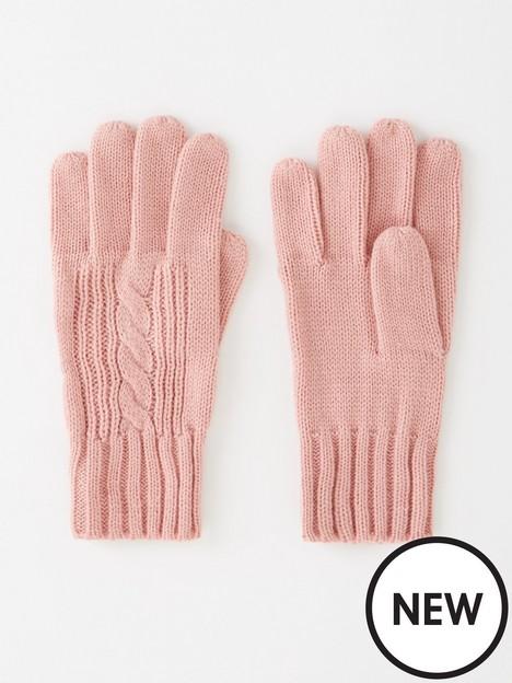 v-by-very-cable-knit-gloves-dusky-pink
