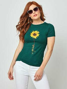 joe-browns-sunflower-t-shirt-teal