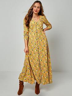 joe-browns-dainty-floral-dress-mustardmulti