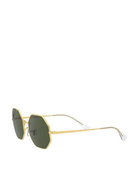 ray-ban-octagon-hexagonal-sunglasses-gold