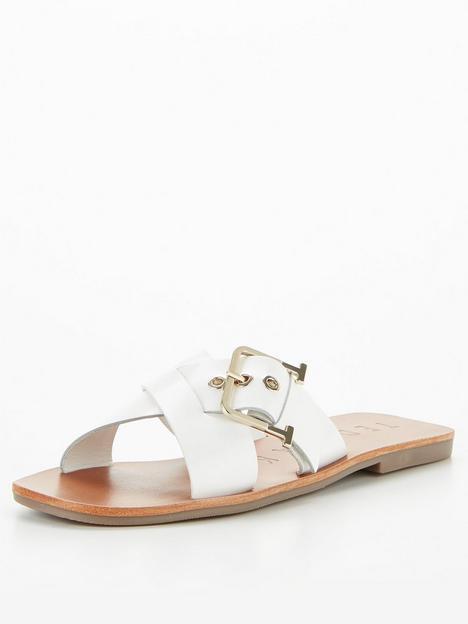 ted-baker-buckle-detail-flat-sandal-white