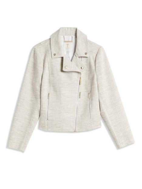 ted-baker-tweed-effect-biker-jacket-beige