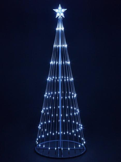 6ft-white-waterfall-led-outdoor-christmas-tree-light