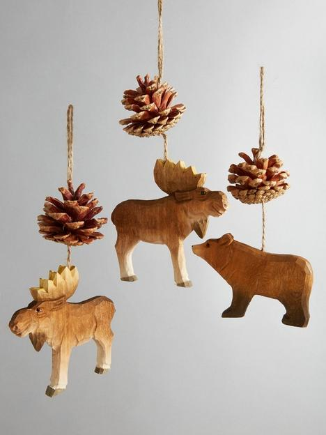 set-of-3-moose-and-bear-hanging-christmas-tree-decorations