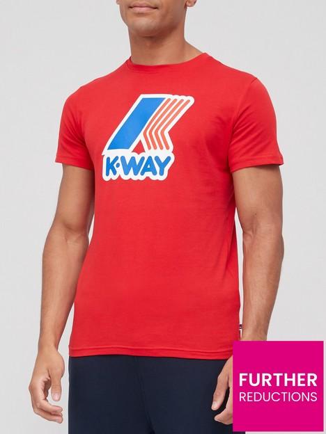 k-way-pete-macro-logo-t-shirt-red