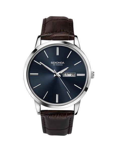 sekonda-sekonda-dark-blue-date-dial-black-strap-mens-watch