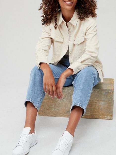 v-by-very-baby-cord-overshirt-stone