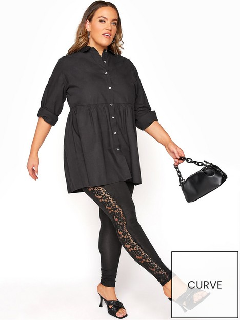 yours-yours-london-full-length-lace-panel-legging-black
