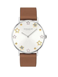 coach-perry-star-dial-brown-strap-watch