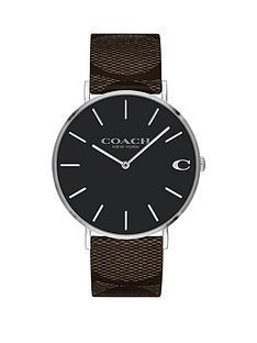 coach-coach-charles-black-dial-black-strap-watch
