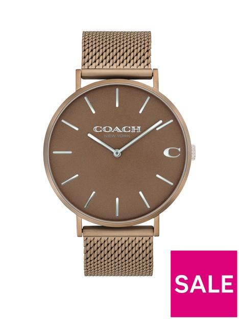 coach-coach-charles-bronze-dial-mesh-strap-watch