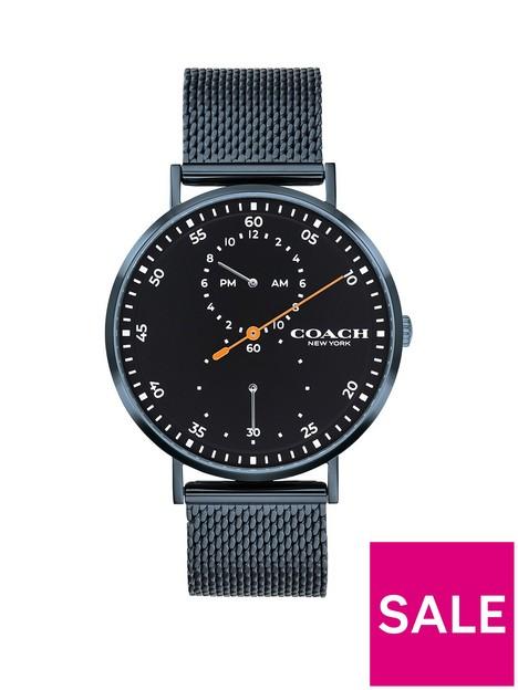 coach-coach-charles-black-multi-dial-mesh-strap-watch