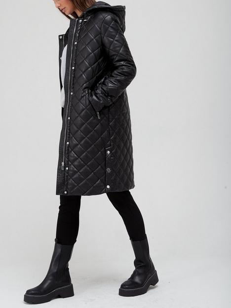 v-by-very-faux-leather-padded-coat-with-hood-black