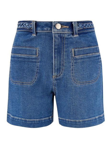 monsoon-plait-waistband-denim-short
