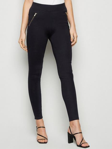 new-look-zip-side-high-waist-leggings-black