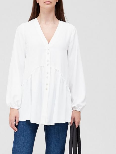 v-by-very-longline-button-detail-tunic-ivory