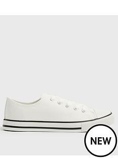 new-look-canvas-stripe-sole-trainer--nbspwhite