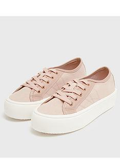 new-look-double-sole-lace-up-trainer