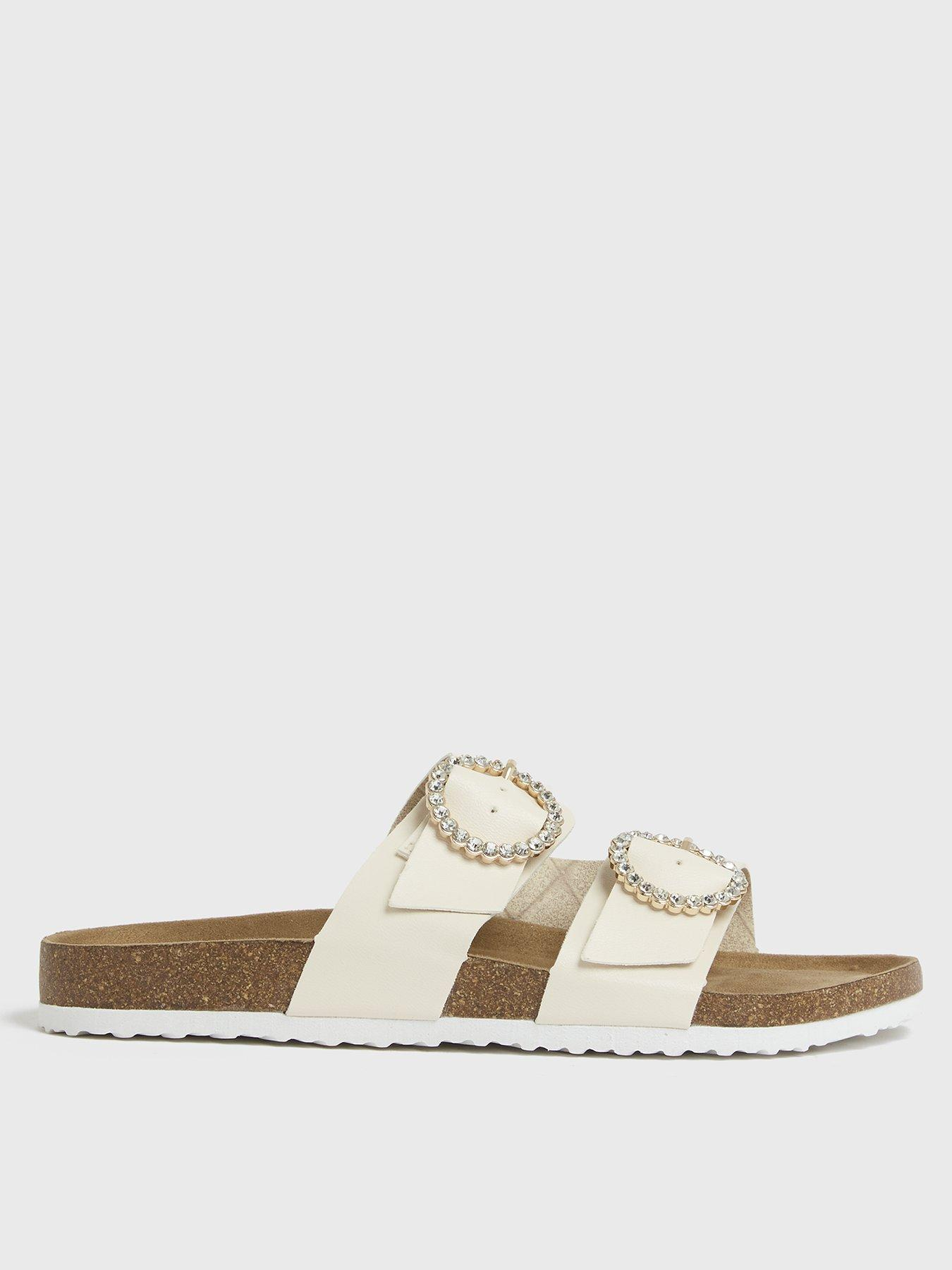 Details about  /Pink Crush Kids Wedge Sandals Cream
