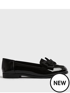 new-look-patent-bow-front-loafers