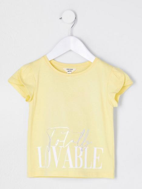 river-island-mini-girlsnbspshort-sleeve-lovablenbsptulip-sleeve-t-shirt-yellow