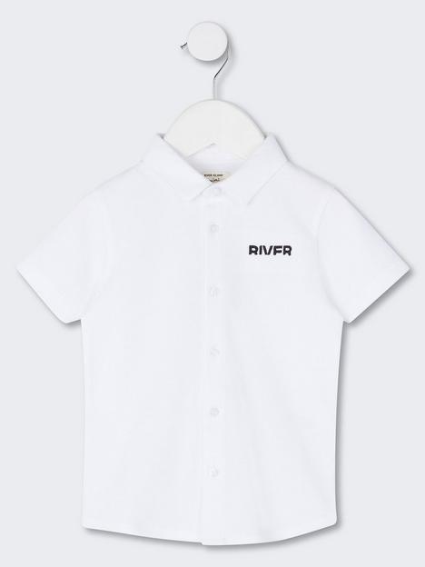 river-island-mini-short-sleeve-pique-polonbspshirt-white