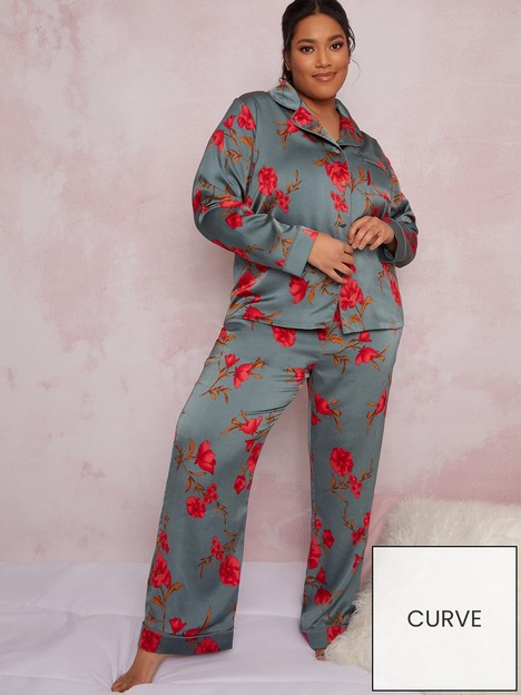 chi-chi-london-curve-shawna-pyjama-set-green