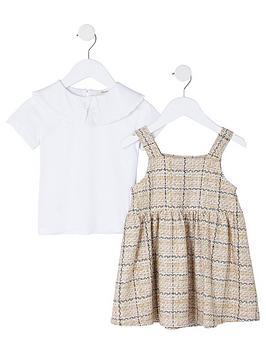 river-island-mini-girls-boucle-pinny-dress-outfit-white