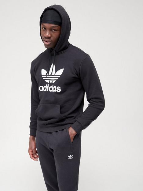 adidas-originals-trefoil-hoodie-blackwhite