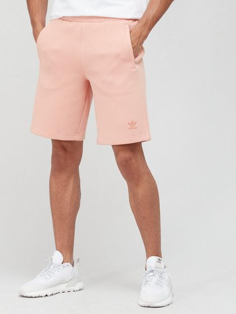 adidas-originals-flock-trefoil-shorts-pink