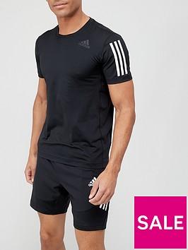 adidas-3-stripe-techfit-baselayer-short-sleevenbspt-shirt-black