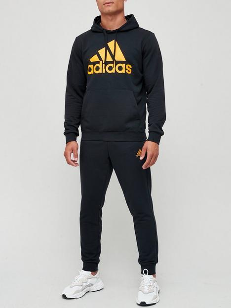 adidas-badge-of-sportnbsphooded-tracksuit-blackgold