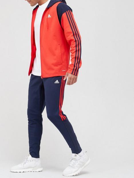 adidas-rib-3-stripe-hood-tracksuit-rednavynbsp