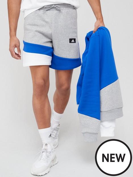 adidas-future-icon-colourblock-shorts-medium-grey-heather