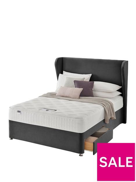 silentnight-shea-memory-1000-pocket-velvet-divan-bed-with-storage-options-headboard-included